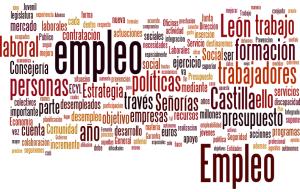 Nube de palabras en relación a la comparecencia de la Consejera de Empleo