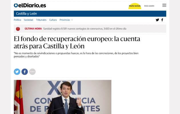 Artículo de nuestro presidente sobre los retos del desarrollo local en Castilla y León